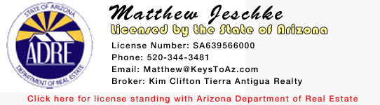 Arizona Real Estate License | Matthew Jeschke