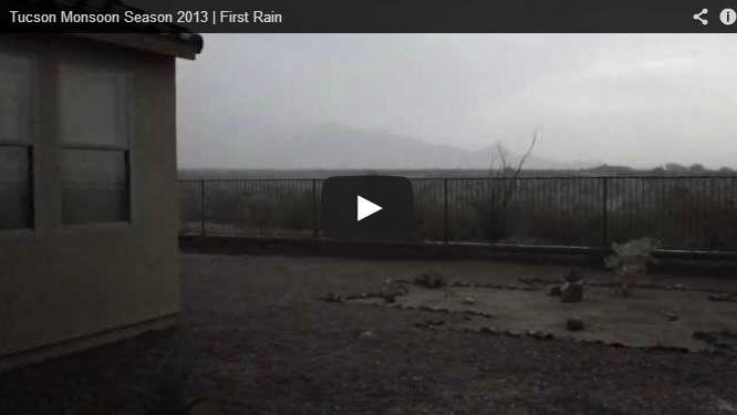 Welcoming Tucson monsoon season 2013