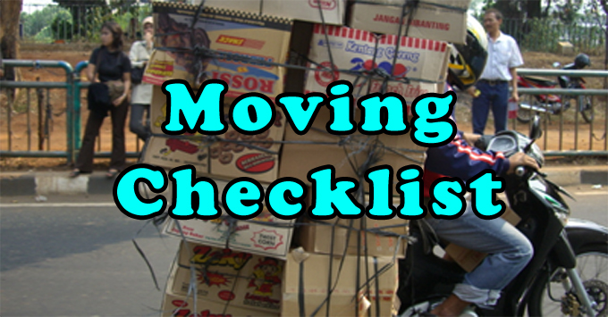 Printable checklist to prepare for your next move