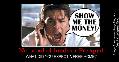 FREE homes that'd be the day… Show me the money!