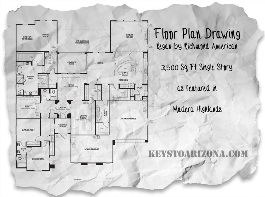 Regan floorplan in the Estates, Madera Highlands Sahuarita